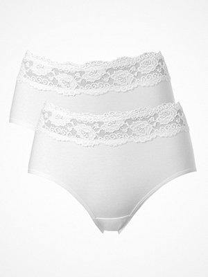Trofé 2-pack Trofe Lace Trimmed Midi Briefs White