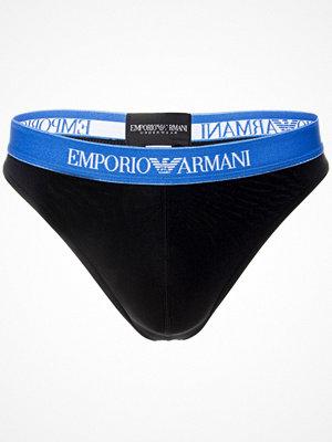 Armani Essential Microfiber Thong Black