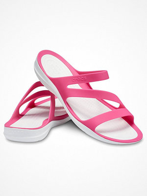 Tofflor - Crocs Swiftwater Sandal W White/Pink