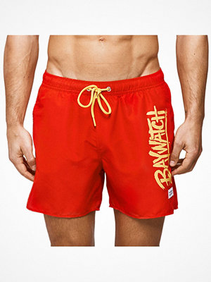 Badkläder - Frank Dandy Baywatch Mitch Swim Shorts Red