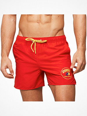 Badkläder - Frank Dandy Baywatch Patch Swim Shorts Red