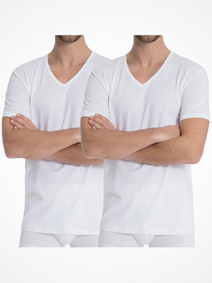 Calida 2-pack Natural Benefit V-shirt White