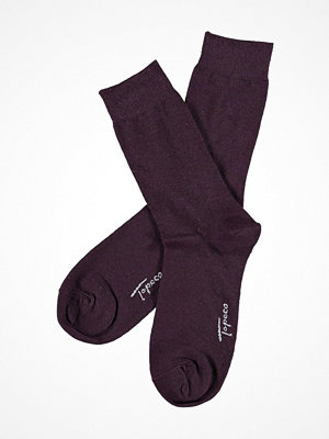 Strumpor - Topeco Mens Classic Socks Plain Darkred
