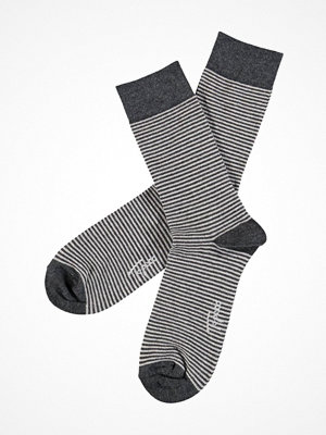 Topeco Mens Sock Soft Top Stripe Darkgrey