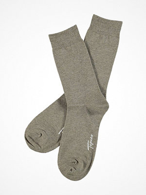 Strumpor - Topeco Mens Classic Socks Plain Light brown