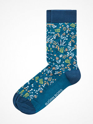 Strumpor - Björn Borg NY Tiny Flower Socks Blue Pattern