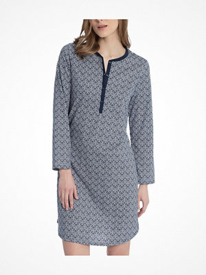 Calida Enya Nightgown  Blue Pattern