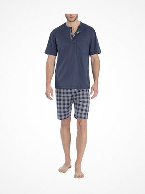 Calida Quentin Short Pyjama Navy Checked