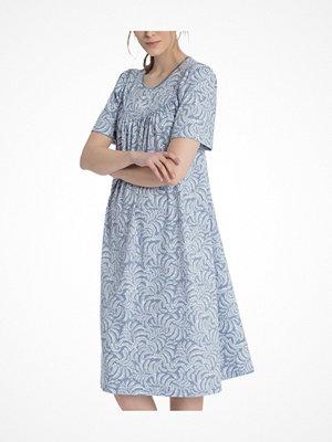 Nattlinnen - Calida Soft Cotton Nighdress 34000  Blue Pattern