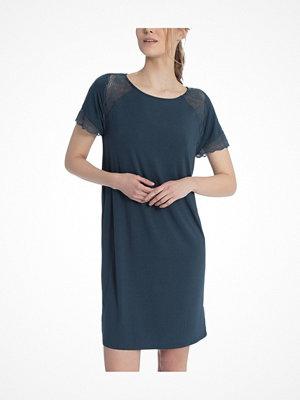 Nattlinnen - Calida Jaina Sleepshirt Dark Turquoise
