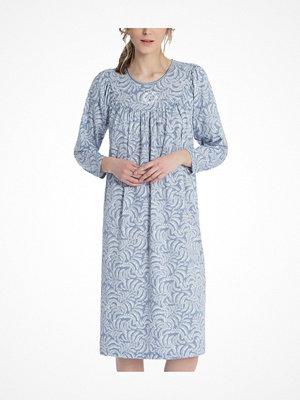 Nattlinnen - Calida Soft Cotton Nightdress 33000 Blue Pattern