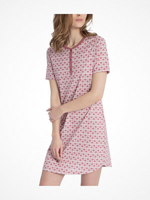 Nattlinnen - Calida Enya Sleepshirt  Pink Pattern