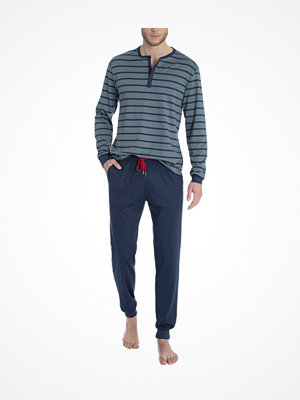 Calida Joris Pyjama With Cuff Blue/Grey