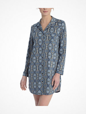 Nattlinnen - Calida Noee Sleepshirt Blue Pattern