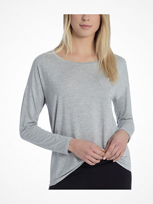 Pyjamas & myskläder - Calida Favourites Essentials Shirt Long Sleeve 137 Grey