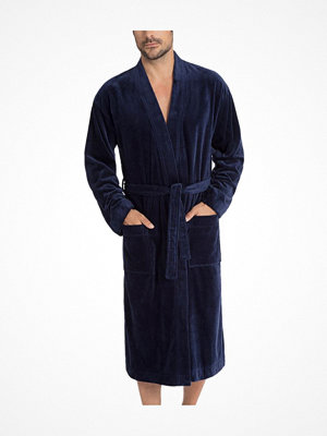 Morgonrockar - Calida After Shower Men Bathrobe Darkblue