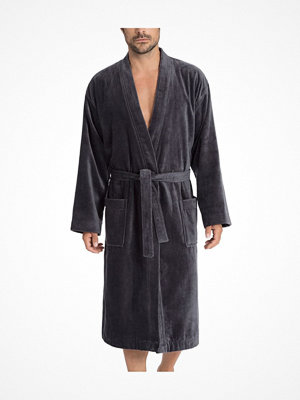 Morgonrockar - Calida After Shower Men Bathrobe Anthracite