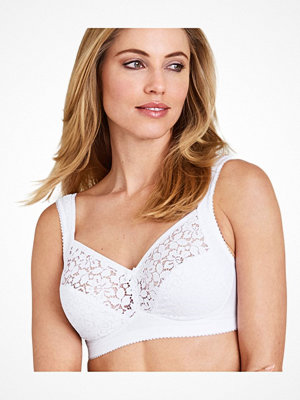 Miss Mary of Sweden Miss Mary Cotton Lace Non-Wired Bra White