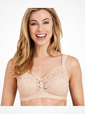 Miss Mary of Sweden Miss Mary Cotton Lace Non-Wired Bra Beige