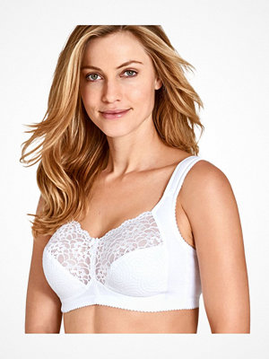 Miss Mary of Sweden Miss Mary Cotton Twirls Non-Wired Cotton Bra White