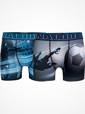 CR7 Cristiano Ronaldo 2-pack Boys Printed Micro Trunk Blue/Grey