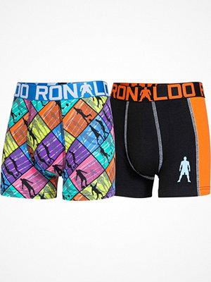 CR7 Cristiano Ronaldo 2-pack Boys Line Trunk Black pattern-2