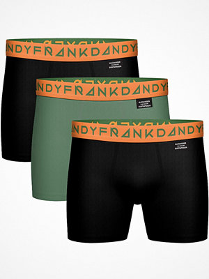 Frank Dandy 3-pack x ALX TM Solid Boxers Black/Green