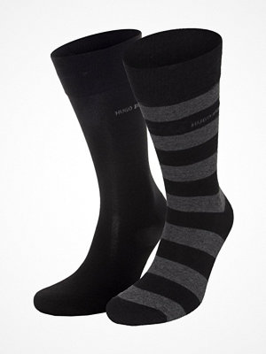 Hugo Boss 2-pack RS Block Stripe Socks Black
