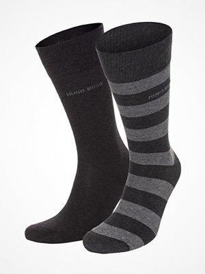 Hugo Boss 2-pack RS Block Stripe Socks Darkgrey