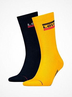 Strumpor - Levi's 2-pack 120SF Sportswear Regular Cut Socks Blue/Yellow