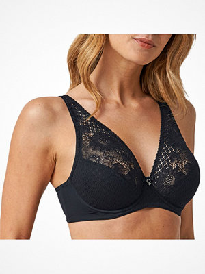 Abecita Lacy-Lace Wire Bra Black