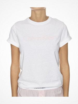 Pyjamas & myskläder - Calvin Klein Cotton Coord Top SS Crew Neck White