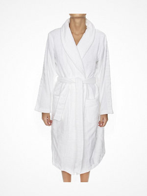 Morgonrockar - Calvin Klein Women Terry Logo Robe White