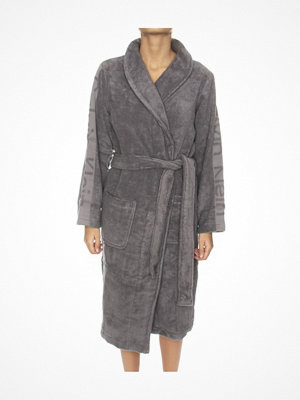 Morgonrockar - Calvin Klein Women Terry Logo Robe Grey