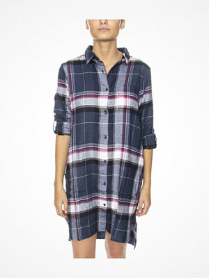 DKNY Hello Fall LS Boyfriend Shirt Blue Pattern