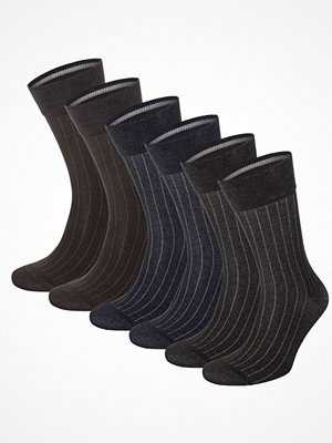 Topeco 6-pack Mens Mercerized Cotton Multi Pack Socks Multi-colour