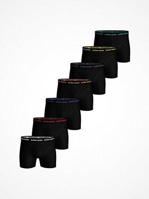 Björn Borg 7-pack Essential Solid Shorts Black