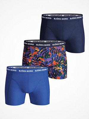 Björn Borg 3-pack Essential Winter Leaf Shorts Blue Pattern