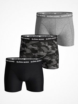 Björn Borg 3-pack Essential Shadeline Shorts Grey/Black