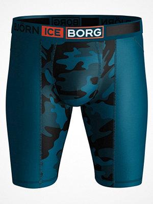 Björn Borg Performance Ice Preston Long Shorts Blue Pattern
