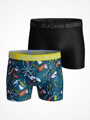 Björn Borg 2-pack Lightweight Micro NY Greenery Shorts Black/Green