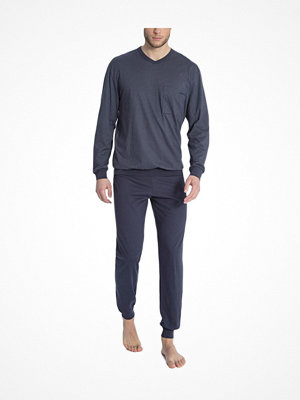 Calida Glen Pyjama With Cuff Blue Pattern