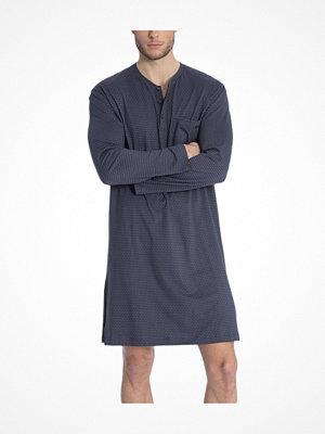 Pyjamas & myskläder - Calida Glen Nightshirt Blue Pattern