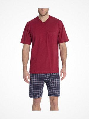 Pyjamas & myskläder - Calida Glen Short Pyjama Red Pattern-2