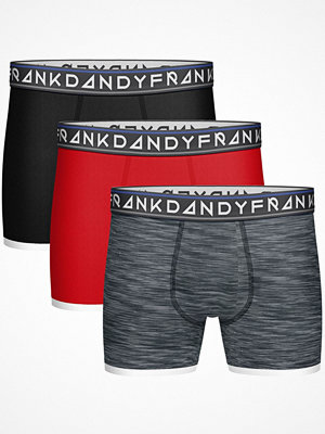 Kalsonger - Frank Dandy 3-pack St Paul Bamboo Boxers Red/Grey
