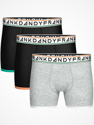 Frank Dandy 3-pack St Paul Bamboo Boxers Black/Grey