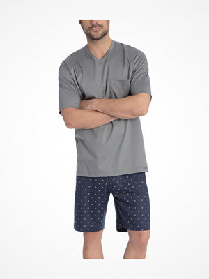Calida Travis Short Pyjama Grey/Blue