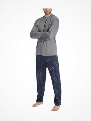 Calida Travis Pyjama Grey/Blue