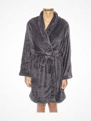 Morgonrockar - Missya Cornflocker Fleece Robe Short Darkgrey