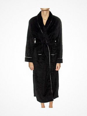 Morgonrockar - Missya Nira Fleece Robe Long Black